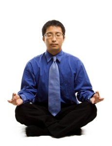 Mindfulness-Meditation-Toronto-Bay-Street-chinese-young-manager-meditating